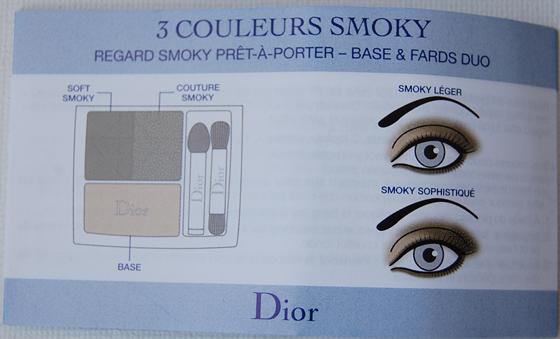Gebruiksaanwijzing_dior_oogschaduw_palette Dior Blue Tie herfstcollectie 2011