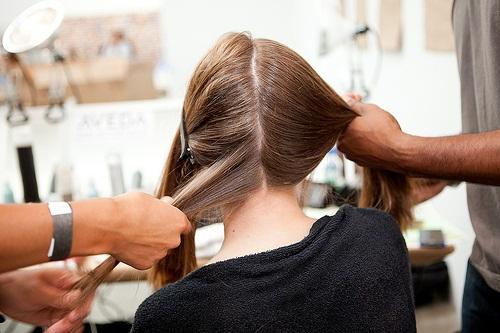 636 AVEDA show de nieuwe haarstijlen  SPRING/SUMMER 2012 in de New York Fashion Week