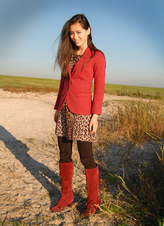 My-LOOKS-FASHION-MIRNS Look of today: The red panther