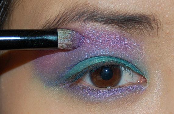 magenta_eyeshadow HowTo? Purple rain look met Make-up Studio