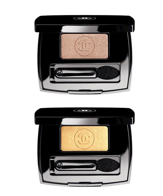 Chanel-Ombre-blazing-gold-eyeshadow Les Scintillances de Chanel kerstcollectie 2011