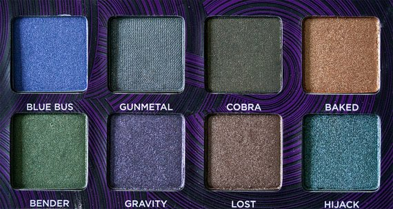 SWATCH-URBAN-DECAY-Top-helft-palette Urban Decay - Books of Shadows IV