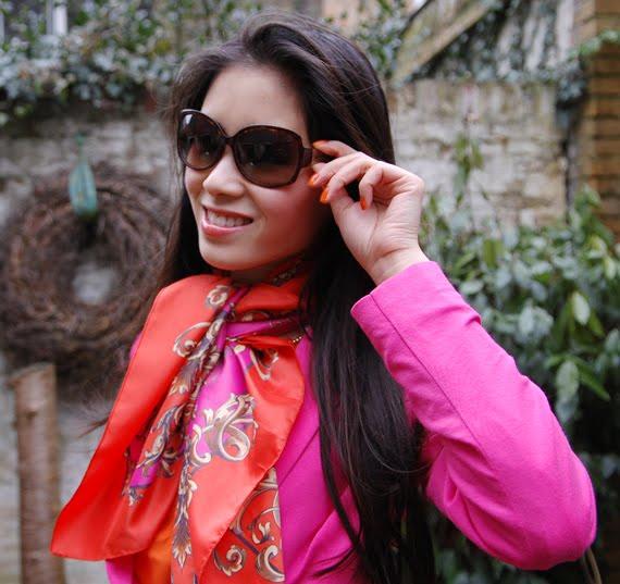 Colourblocking-look-oranje-roze Look of today: Colourblocking Pink/Orange