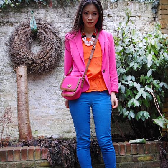 colourblocking-look Look of today: Colourblocking Pink/Orange