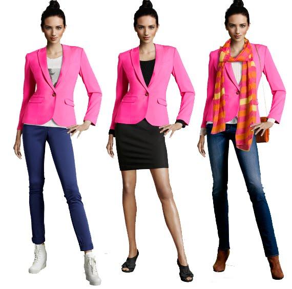 hoe-combineer-je-de-roze-blazer Trend: roze blazer, hoe combineren?