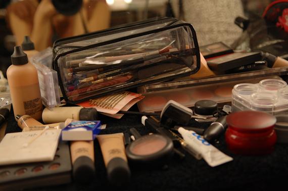 Make-up-mac-backstage Backstage foto's: Naturel make-up
