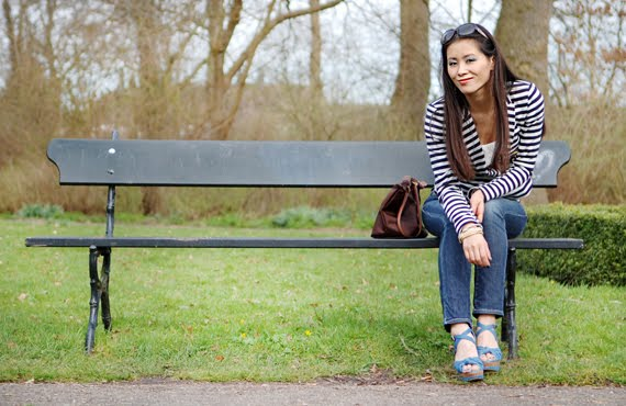 My-huong-bankje Look of today: The Sailor Blazer with Les Jeans