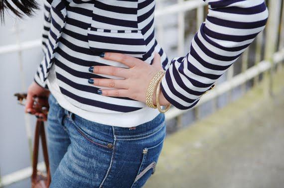 Zoom-my-huong-blazer Look of today: The Sailor Blazer with Les Jeans