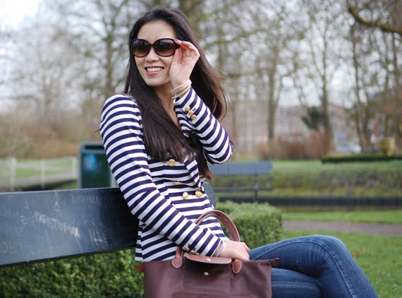 my-huong-les-jeans-12 Look of today: The Sailor Blazer with Les Jeans