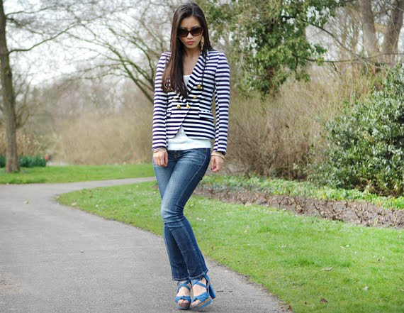 my-huong-les-jeans-sneek Look of today: The Sailor Blazer with Les Jeans