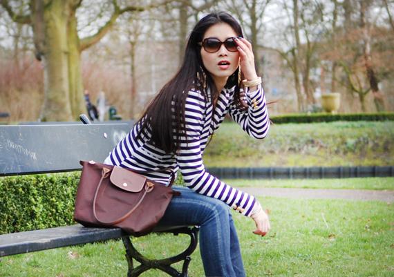 my-huong-longchamp-by-bart-lighthart Look of today: The Sailor Blazer with Les Jeans