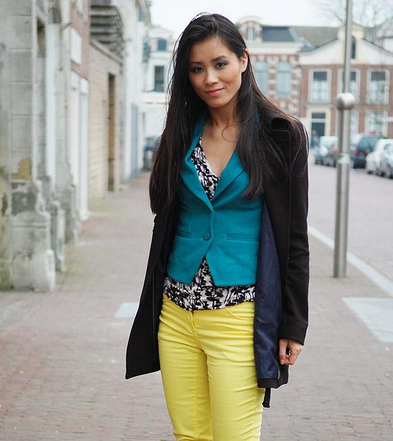 my-huong-look-met-jas Look:  The Yellow pants!