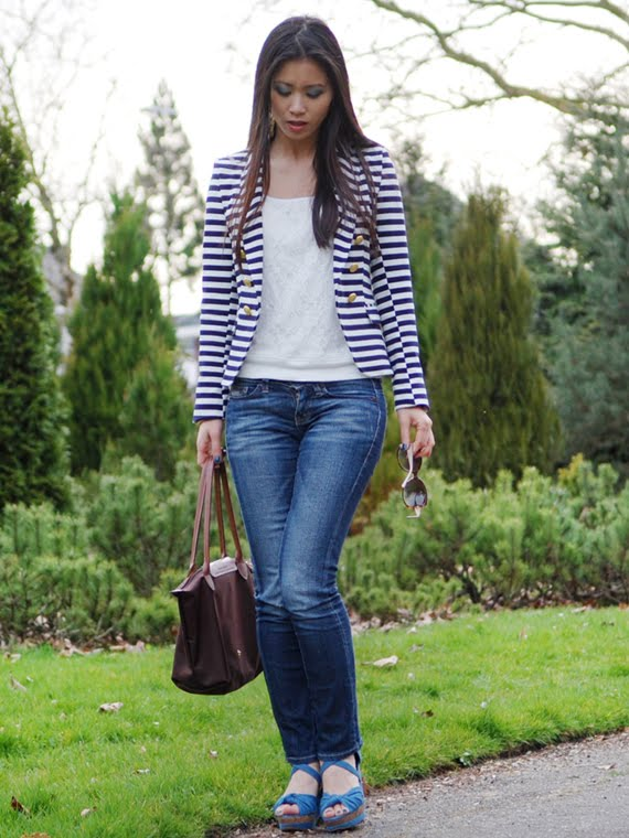 my-huong-look-the-beauty-musthaves Look of today: The Sailor Blazer with Les Jeans