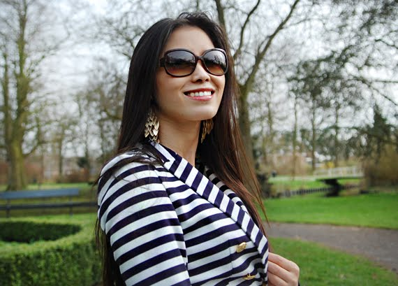 my-huong-sneek Look of today: The Sailor Blazer with Les Jeans