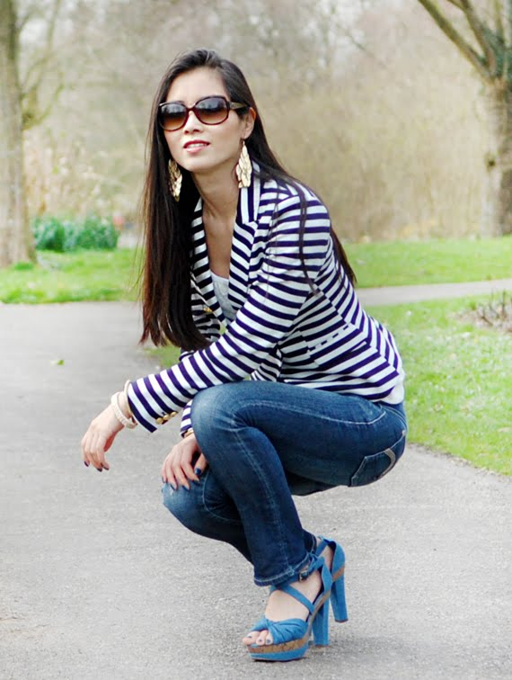 my-huong Look of today: The Sailor Blazer with Les Jeans