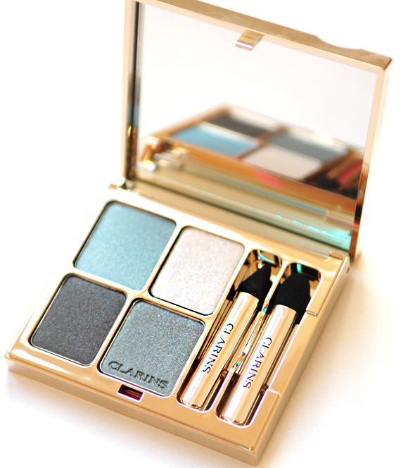 Eyeshadow-ombre-blye-sky-clarins Clarins Make-up: Ombre Minerale Blue Sky, Gloss Prodige& Foundation Ever Matte