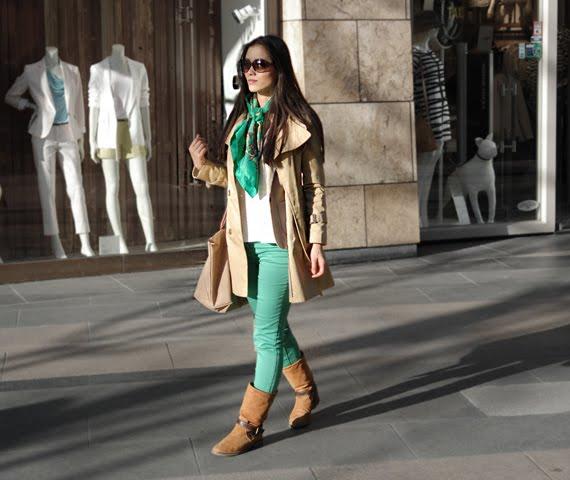 Go-green-saint-tropaz-My-huong The green skinny look