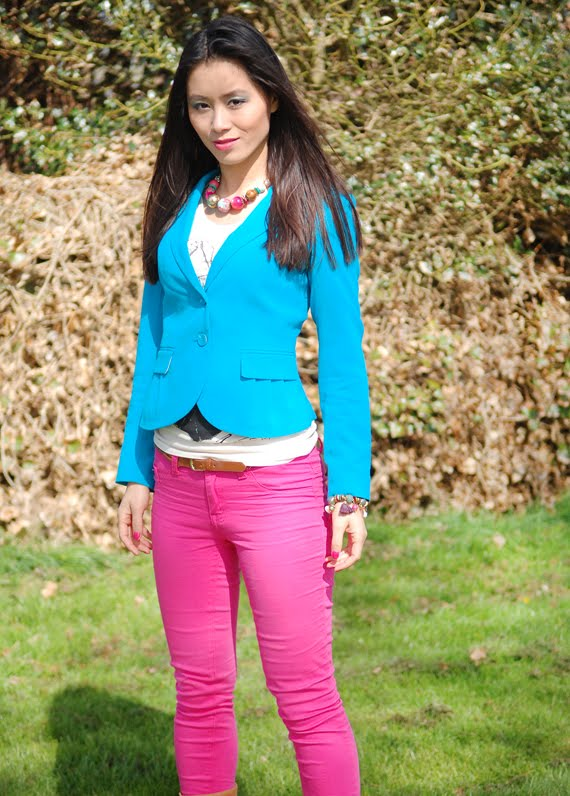 Look-outfit-of-today-clolourblocking Look of today: Colourblocking with Blue & Pink