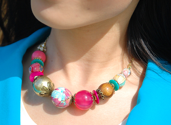 accessorize-ketting-necklace Look of today: Colourblocking with Blue & Pink