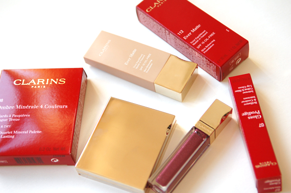 clarins-lentecollectie-2012-make-up-beauty Clarins Make-up: Ombre Minerale Blue Sky, Gloss Prodige& Foundation Ever Matte