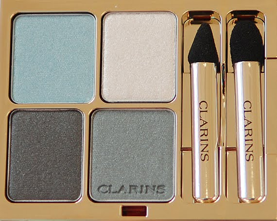 clarins-lentecollectie-blue-sky-ombre-eyeshadow- Clarins Make-up: Ombre Minerale Blue Sky, Gloss Prodige& Foundation Ever Matte