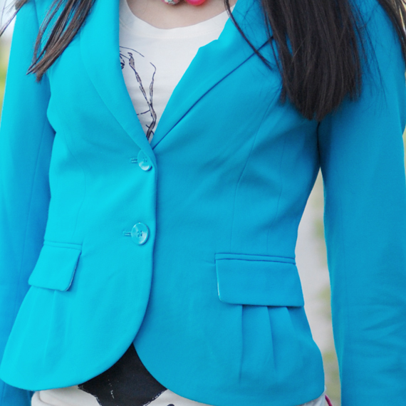 hm-blue-blazer Look of today: Colourblocking with Blue & Pink