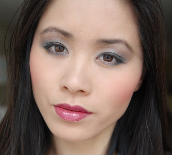my-huong-look-clarins Clarins Make-up: Ombre Minerale Blue Sky, Gloss Prodige& Foundation Ever Matte