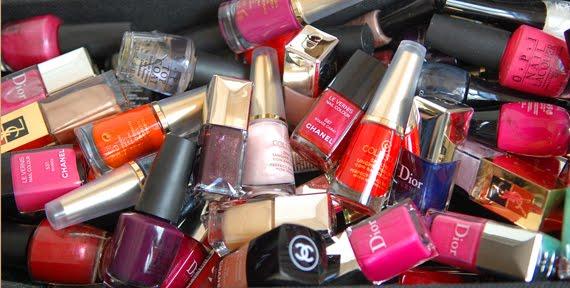 nagellak-stash-chanel-dior-ysl-opi-koh-collistar Je stash organiseren in een make-up trolley