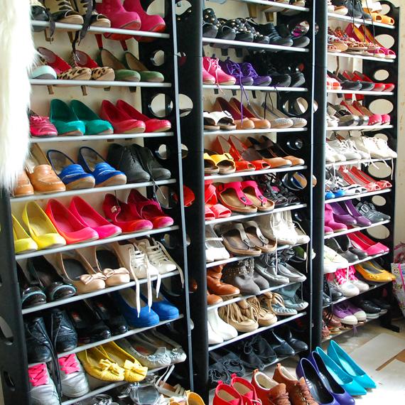 schoenen-garderobe Een kijkje in Ellen's warderobe