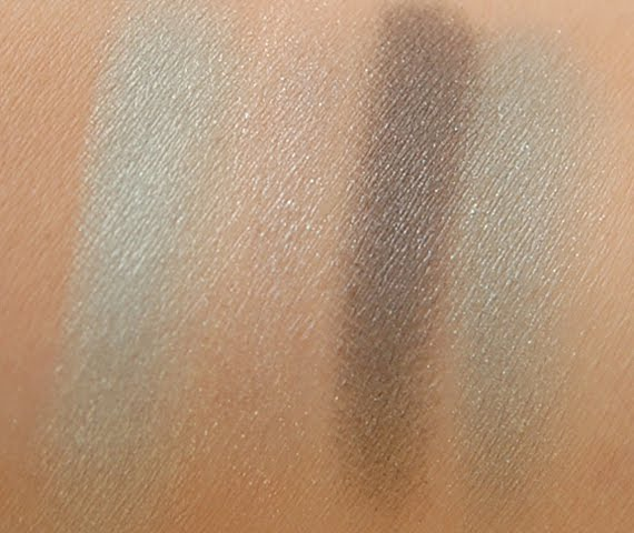 swatches-blue-sky-droog Clarins Make-up: Ombre Minerale Blue Sky, Gloss Prodige& Foundation Ever Matte