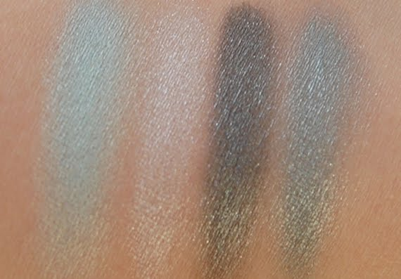 swatches-wet-bleu-sky-clarins-ombre Clarins Make-up: Ombre Minerale Blue Sky, Gloss Prodige& Foundation Ever Matte