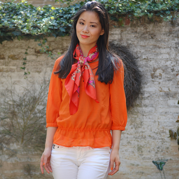 tangerina-oranje-orange-koninginnedag-2012-outfit-my-huong Look of today: Tangerina