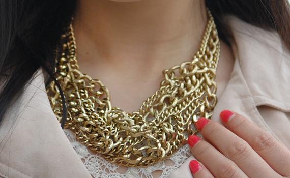 Ketting-goud-sieraden-look Look of today: Casual chique