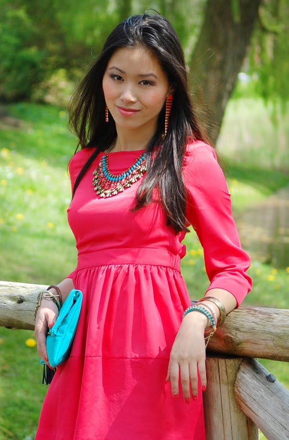 My-Huong-asian-model-female-nikon Look of today: The coral pink dress!