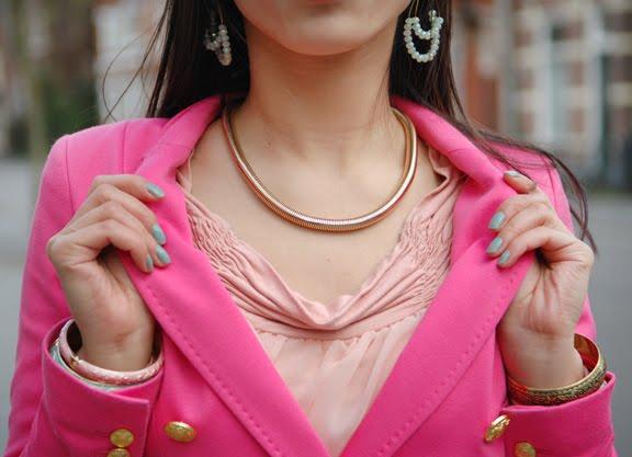 look-of-today-my-huong-12 Look of today: Roze blazer vs. mintgroene skinny