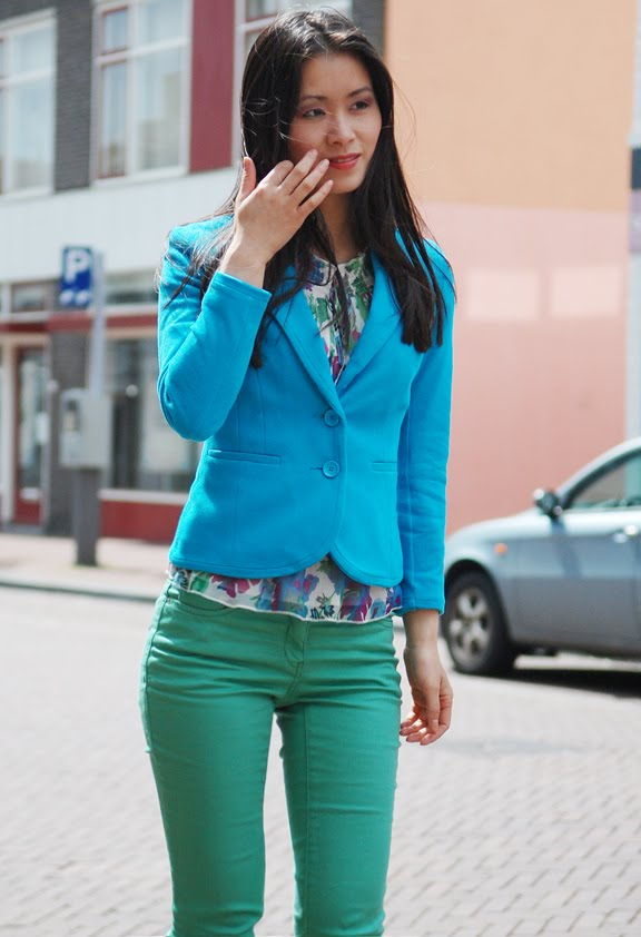 my-huong-sneek-hemelvaart-look Look of today: Blue & Green