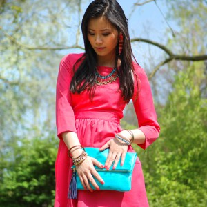 outfit-fotos-look-summer-dress-300x300 Look of today: The coral pink dress!