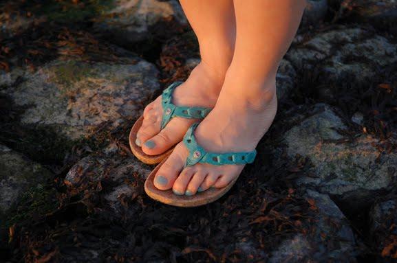 ugg-slippers-sandalen-groen-blauw Look of today: The sunset