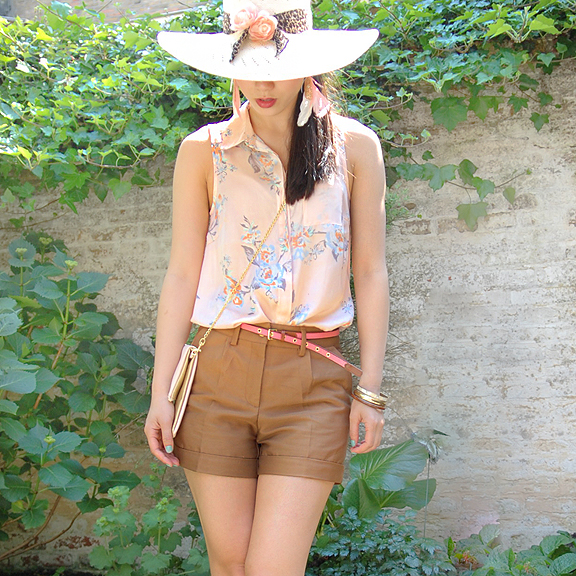 blouse-hoed-my-huong Look of today: Short in summer!