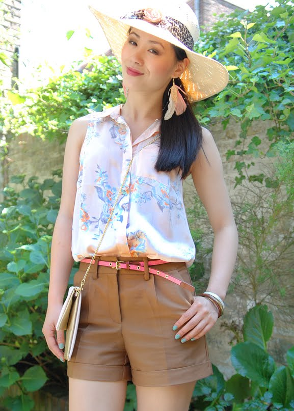 my-huong-safari-blouse-chique Look of today: Short in summer!