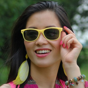Avatar-Rayban-geel-wayfarer-Yellow-My-Huong-300x300 Look of today: Neon outfit