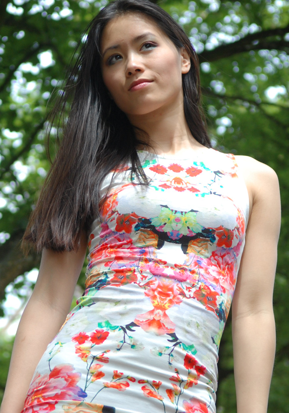 my-huong-chinese-rose-dress-look Look of today: chinese rose dress