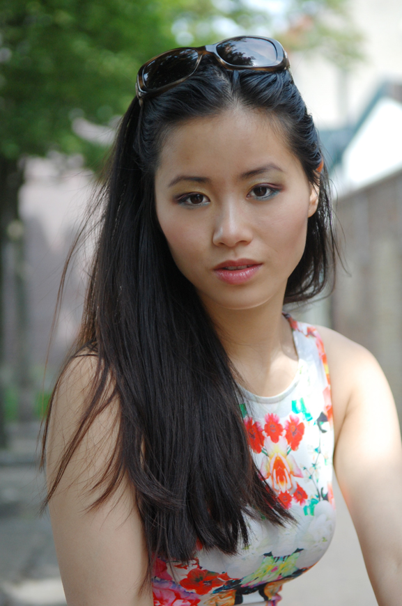my-huong-portret Look of today: chinese rose dress
