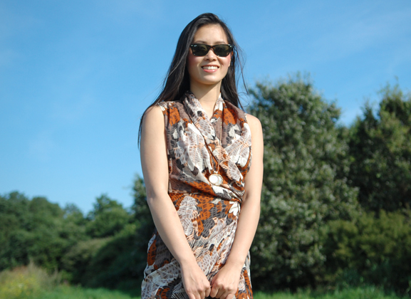 my-huong-look-outfit-hm-dress-summer-groene-ster Outfit: Day at the beach