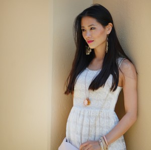 my-huong-summer-outfit-look-300x298 Outfit: white lace dress