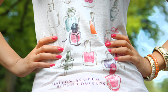 shirt-maison-scotch-vernis-couleur Look of today: casual summer outfit