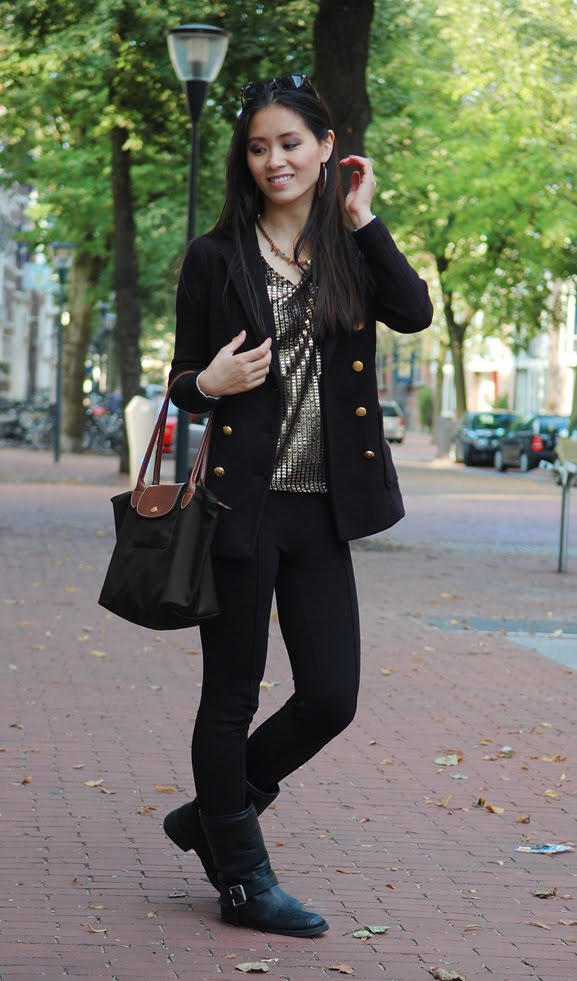 Black-style-my-huong-look-pictures-outfit Outfit: Black vs. Gold