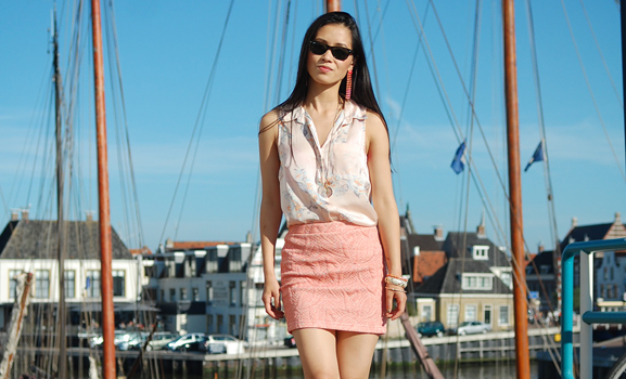 My-huong-Harlingen-Look-outfit-summer-peachy Outfit Go peachy