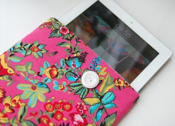 ipad-case-sleeve-orchid-pink-hotpink-birds Fashionable tablet & telefoonhoesje van Sac Coloré