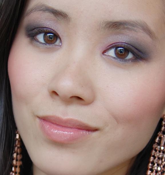 my-huong-face-look-estee-lauder-violet-underground Estée Lauder Violet Underground look 2012